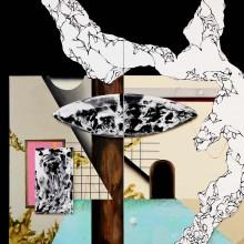 大橋麻里子/Mariko Ohashi 《ある人の部屋の風景》 2016, 162.0×260.6cm, oil, acrylic on canvas