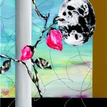 大橋麻里子/Mariko Ohashi 《彼女の部屋から見た景色》 2017, 72.7×53.0cm, oil, acrylic on canvas