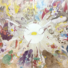 上床加奈/Kana Uwatoko 《untitled》 2016, 51.5x72.8cm, acrylic, water color, ink, paper