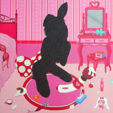 Pinky time, 2013, 45x45cm, 17 3/4x17 3/4in., acrylic on canvas