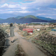 八太栄里/Eri Harra《わたしと同じように/the same as me》2016, 41x53cm, 16 1/8x20 7/8in., acrylic on panel