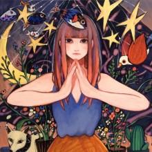 藤川さき/Saki Fujikawa《日が昇る》 2016, 45.5×53cm, acrylic on canvas