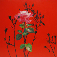 「精神美(薔薇)」心色/華色すがた, 2008, 45.5x45.5cm, 17 8/9x17 8/9 in., oil and acrylic on cotton on panel