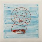 snow globe, 2013, 36x36cm, 14 1/8x14 1/8in., monotype, oil on paper