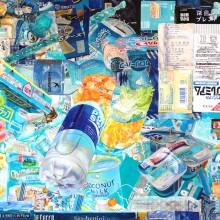 服部桜子/Sakurako Hattori 《Windows7》 2017, 45.6 x 65 cm, 石正紙、膠、岩絵具、水干、胡粉、色鉛筆