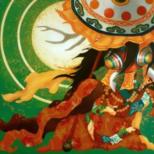 宮間夕子/Yuko Miyama 《爪隠す》 2020, 72.8x103cm, 油彩、テンペラ