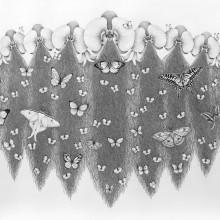 南花奈/Kana Minami 《胡蝶蘭の夢/dream of phalaenopsis》 2015, 54.5x72.7cm, 21 1/2x28 5/8 in., pencil and ink on paper