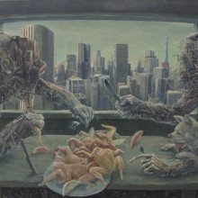 Lifestyle, 2012, 92x170cm, 36 1/4x66 7/8in., oil on canvas