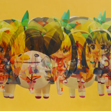 MERRY GO ROUND (TWIN TALE), 2013, 97x162cm, 38 1/4x63 3/4in., oil on panel
