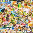 服部桜子/Sakurako Hattori 《metro 0》 2013, 2015, 116.7x160.6cm, 46x63 1/4in., natural mineral pigments, dyed mud pigment, white pigment, Medium pearl powder, color pencil, animal glue Medium and torinoko paper on panel