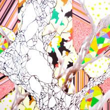 大橋麻里子/Mariko Ohashi 《La Foret》 2015, 91x72.7cm, 35 7/8x28 5/8in., oil, acrylic on canvas