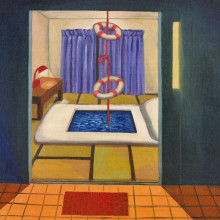齋藤友貴/Yuki Saito《浴室/Bathroom》2013, 80.3x100cm, oil on canvas