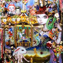 山際マリ/Mari Yamagiwa《Daydream》2015, 80.3x60.6cm, mixed media on panel
