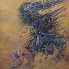 大本幸大/Kota Omoto《Heavy Wind》2015, 53x45.5cm, oil on canvas