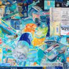 服部桜子/Sakurako Hattori《Windows7》2016, 45.6×65cm, mineral pigment, dyed mud pigment, white pigment and color pencil on Sekisho-paper with Animal glue