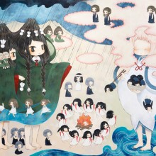 金田涼子/Ryoko Kaneta 《雨乞い/Praying for Rain》 2015, 112×162cm, acrylic on canvas
