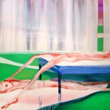 前川ひな/Hina Maekawa 《All Too Human》2016,  91x116.7cm, oil and acrylic on canvas