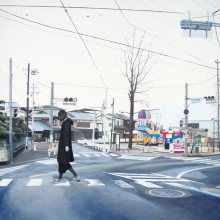 八太栄里/Eri Hatta《戻らない日をくり返す》, 2016, 72.7×60.6cm, acrylic on panel