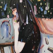 藤川さき/Saki Hujikawa《オリジナルカラー》, 2018, 41×27.3cm, acrylic on canvas