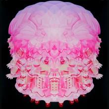 東 麻奈美/Manami Higashi《MERRY GO ROUND (Lotus flower)》2018, 100×100cm, 20 7/8×20 7/8 in., oil on canvas