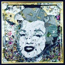 yueru 《Marilyn Monroe》, 2018, 63×63cm, Mixed media