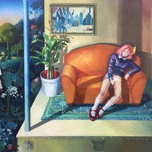 川口瑠利弥/Ruriya Kawaguchi《06:02》2017, キャンバス、油彩 130x162cm