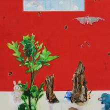岩﨑拓也/Takuya IWASAKI《秘密》 2018, 53×33.3cm, 油彩、キャンバス