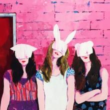 有村佳奈/Kana Arimura 《GIRLS》 2018,  アクリル、キャンバス 60.6x72.7cm