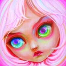 ミルヨウコ/Yoko Mill 《Rose》 2018, 油彩、キャンバス 41x41cm