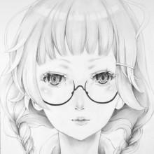 竹馬紀美子/Chikuma Kimiko 《知恵の泉》 2019, 38.1x27cm, 紙、鉛筆