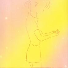 しもかわしょうこ/Shoko Shimokawa《こぼれた星》 2019, 29.7x21cm, カーボン転写、水性スプレー