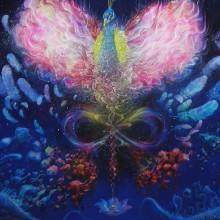 伊東明日香/Asuka Ito 《色界天》2019-2020, 145.5x145.5cm, キャンバス、油彩
