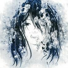黒田阿未/Ami Kuroda 《浮沈Ⅰ》 2020,  22.7×22.7cm,  紙版画