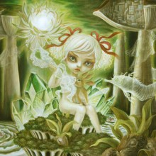 ミルヨウコ/Yoko Mill 《光の森/The Forest of Light》 2020, 65.2x50.0cm, oil on canvas