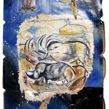 江原梨沙子/Risako Ehara 《La grotte CHAUVET》 2020, 53x36cm, ボール紙、ミクストメディア