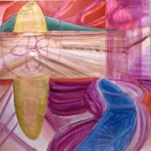 清水香帆/Kaho Shimizu 《boundary》 2019, 130.3x130.3cm, キャンバス、油彩