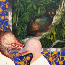 岡部千晶/Chiaki Okabe 《Zoo》 2020, 72.7x60.6cm, キャンバス、油彩