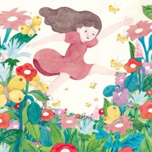 水沢そら/Sora Mizusawa 《咲く/BLOOM》 2020, 50.6×34.6cm, 顔彩、水彩、紙