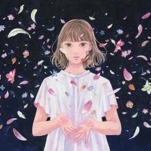 谷川千佳/Chika Tanikawa 《散る/花を手放す》 2020, 34×50cm, キャンバス、アクリル