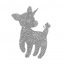 南花奈/Kana Minami 《Cute tail》 2020, 18×14cm, 紙、インク