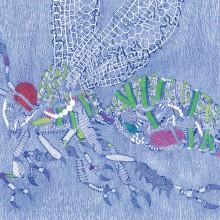 南花奈/Kana Minami 《Flying Ant #2》 2020, 14×18cm, ink on paper