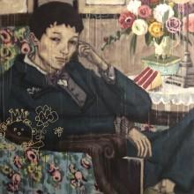 藤井智樹/Satoki Fujii 《無題》 2020, 145.5×112cm, アクリルガッシュ、キャンバス