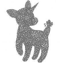 南花奈/Kana Minami 《Cute tail》 2020, 14×18cm, 紙、インク