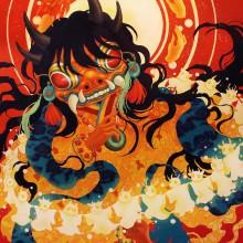 宮間夕子/YUKO MIYAMA  《太陽と精霊の加護》 2021, 31.8×41cm, 油彩,アクリル、綿布、白亜地