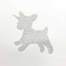 南花奈/Kana Minami 《花葬(一角獣》 2019, 17×17cm, 銅版画